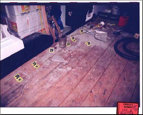 warehouse alleged crime scene